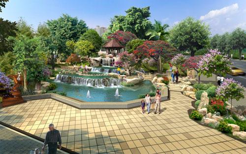 园林景观效果图-海南泳池设备|海南私家泳池设备|海南游泳池工程|海口游泳池设备-海南优尔浦环境科技有限公司